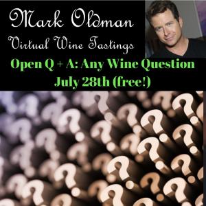 Open Q&A (FREE) | Mark Oldman Virtual Wine Tastings