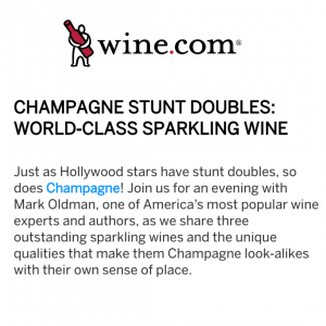 Virtual Tasting: Champagne Stunt Doubles